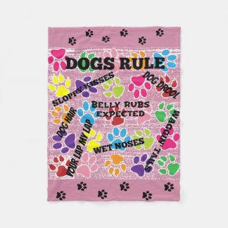 Cobertor De Velo Impressões coloridos da pata da regra dos cães
