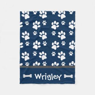 Cobertor De Velo Impressões personalizados da pata do cão do