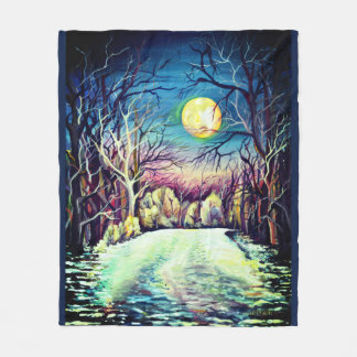 Cobertor De Velo Lua cheia silenciosa do inverno da noite