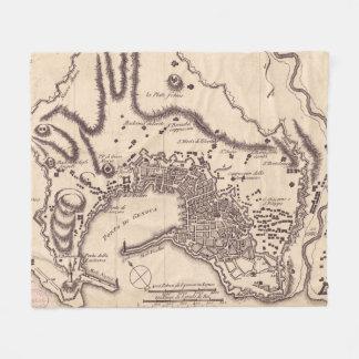 Cobertor De Velo Mapa do vintage de Genoa Italia (1823)