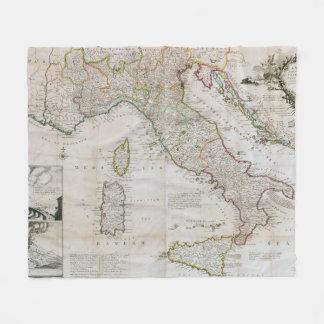 Cobertor De Velo Mapa do vintage de Italia (1714)