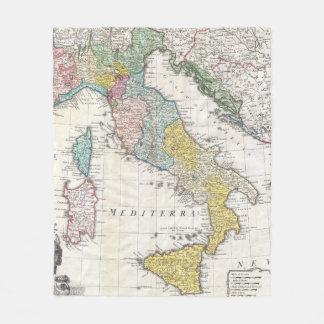 Cobertor De Velo Mapa do vintage de Italia (1742)
