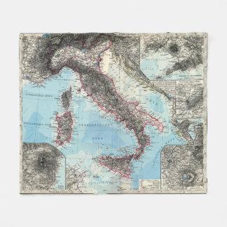 Cobertor De Velo Mapa do vintage de Italia (1891)