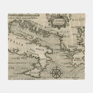 Cobertor De Velo Mapa do vintage de Italia e de piscina (1587)