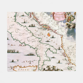 Cobertor De Velo Mapa do vintage de Italia (século XVII)