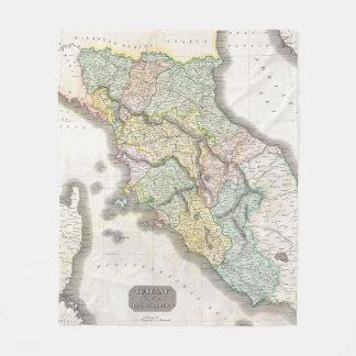 Cobertor De Velo Mapa do vintage de Toscânia Italia (1814)