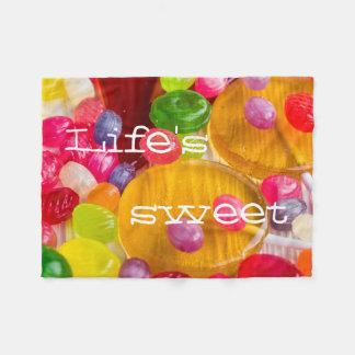 Cobertor De Velo O doce da vida colorida dos doces duros photo||