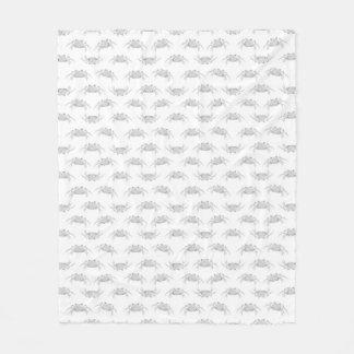 Cobertor De Velo O estilo do pop art Crabs o teste padrão do motivo
