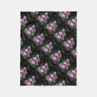 Cobertor De Velo Orquídea roxa