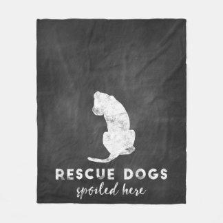 Cobertor De Velo Os cães do salvamento estragaram aqui o quadro do