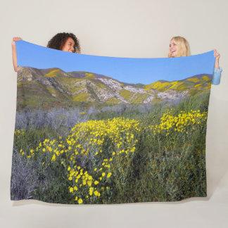 Cobertor De Velo Paisagem amarela do campo do Wildflower