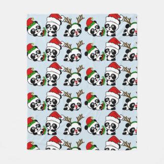 Cobertor De Velo Pandas do Natal