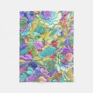 Cobertor De Velo Plantas coloridas do Succulent da natureza