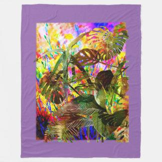 Cobertor De Velo Plantas tropicais e flores