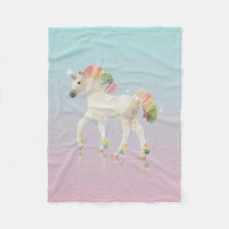 Cobertor De Velo Polígono colorido do unicórnio do arco-íris -
