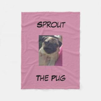 Cobertor De Velo Sprout a cobertura do Pug