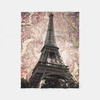 Cobertor De Velo Torre Eiffel floral