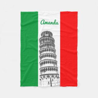 Cobertor De Velo Torre inclinada personalizada de Pisa e da