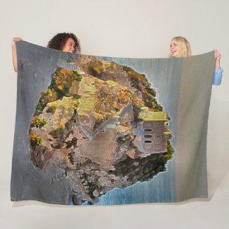 Cobertor De Velo Tropea, arte do acrílico de Italia