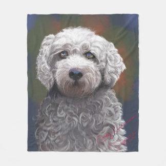 Cobertor De Velo Velo Bischon geral/portra descuidado do cão