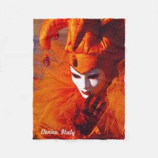 Cobertor De Velo Veneza, Italia (IT) - traje alaranjado do carnaval