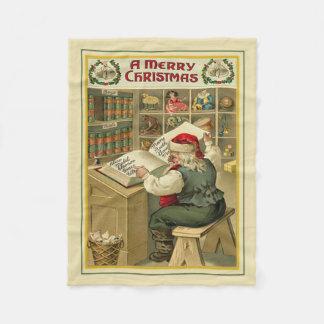 Cobertor De Velo Verificando sua cobertura do velo do Natal da