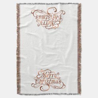 Cobertor design do roteiro do Feliz Natal do Cobre-olhar
