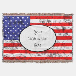 Cobertor Design metálico 2 da bandeira americana