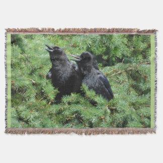 Cobertor Dois corvos