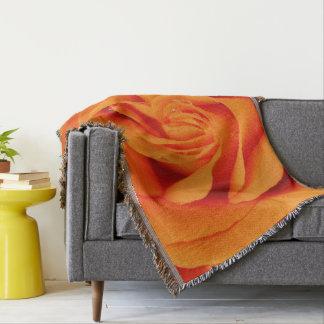 Cobertor flor geral do abstrato do rosa da laranja do lance