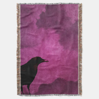 Cobertor Impressões assustadores do corvo do Dia das Bruxas