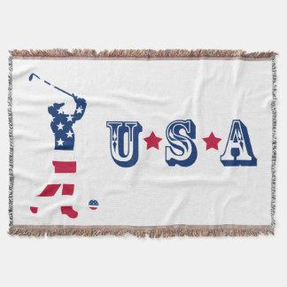 Cobertor Jogador de golfe da bandeira de América do golfe