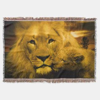 Cobertor Leão e cobertura do lance de Cub