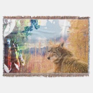 Cobertor O chacal ajardina o cão exterior do parque