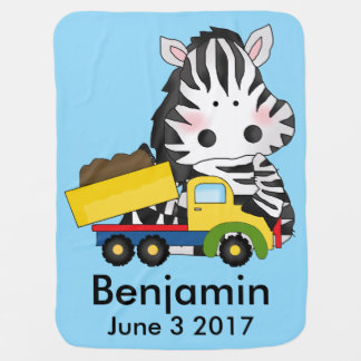 Cobertor Para Bebe A zebra personalizada de Benjamin