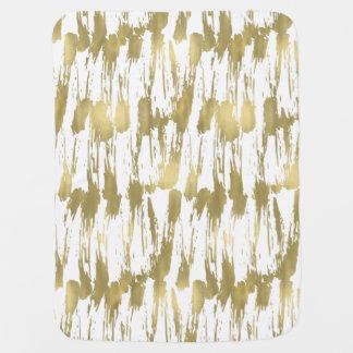 Cobertor Para Bebe Abstrato do encanto do ouro