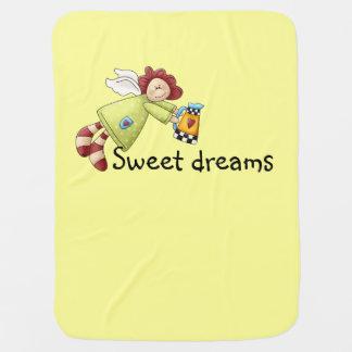 Cobertor Para Bebe Amarelo do anjo do jardim do país