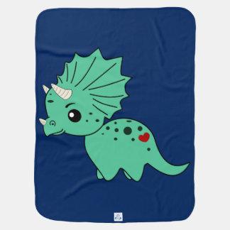 Cobertor Para Bebe Amor do Triceratops - cobertura do bebê