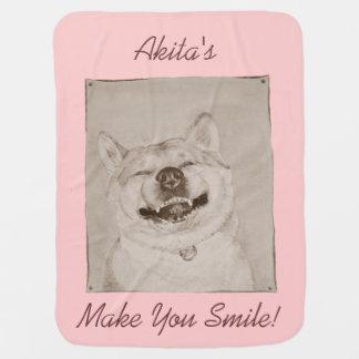 Cobertor Para Bebe arte bonito do realista do slogan do sorriso de