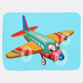 Cobertor Para Bebe avião dos desenhos animados