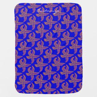 Cobertor Para Bebe azul de Thunder_Cove do teste padrão da estrela do