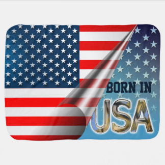Cobertor Para Bebe Bandeira dos E.U.