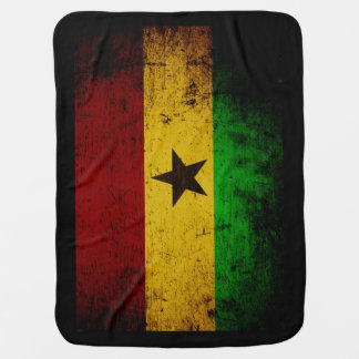 Cobertor Para Bebe Bandeira preta de Ghana do Grunge
