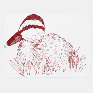 Cobertor Para Bebe Blankie do pato do bebê que recebe coberturas