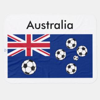 Cobertor Para Bebe Bolas de futebol australianas da bandeira