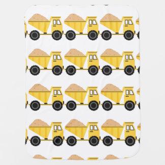 Cobertor Para Bebe Camião basculante amarelo