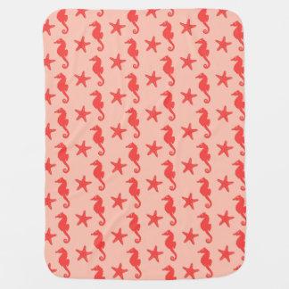 Cobertor Para Bebe Cavalo marinho & estrela do mar - máscaras da