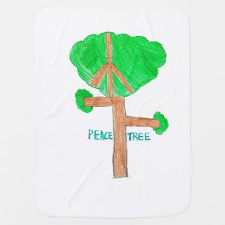 Cobertor Para Bebe Cobertura da árvore da paz do bebê