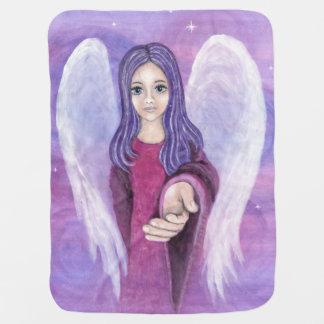 Cobertor Para Bebe Cobertura do bebê do anjo-da-guarda