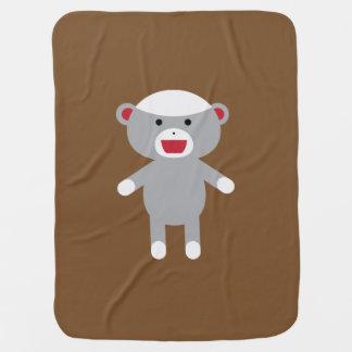 Cobertor Para Bebe Cobertura do bebê do macaco da peúga